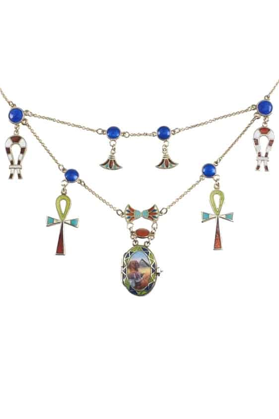 Antikschmuck-Egyptian-Revival-Collier-1258